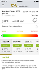 ccaa smart concreting app
