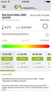 ccaa smart concreting app