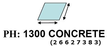 work out concrete measurements